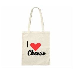 I 'Heart' Cheese - Cheese Themed Cotton Tote Bag